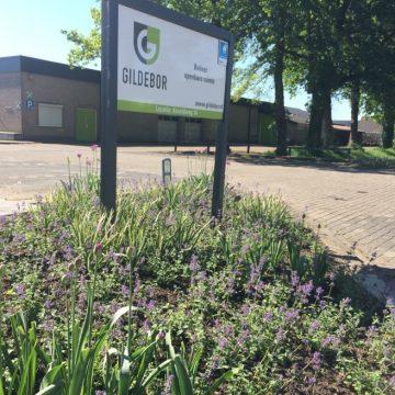Groene entree hoofdkantoor Gildebor aan Asveldweg in Hengelo groeit en bloeit